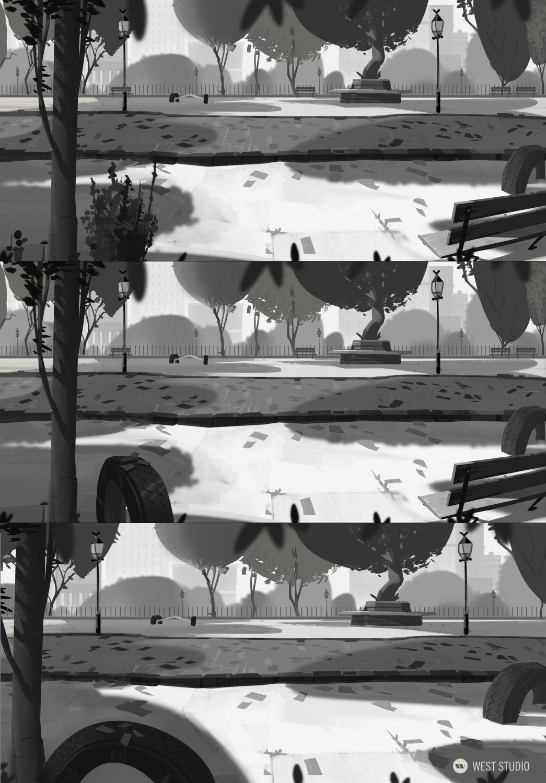 Animation, Background Paintings, Stylized, Illustration, Film