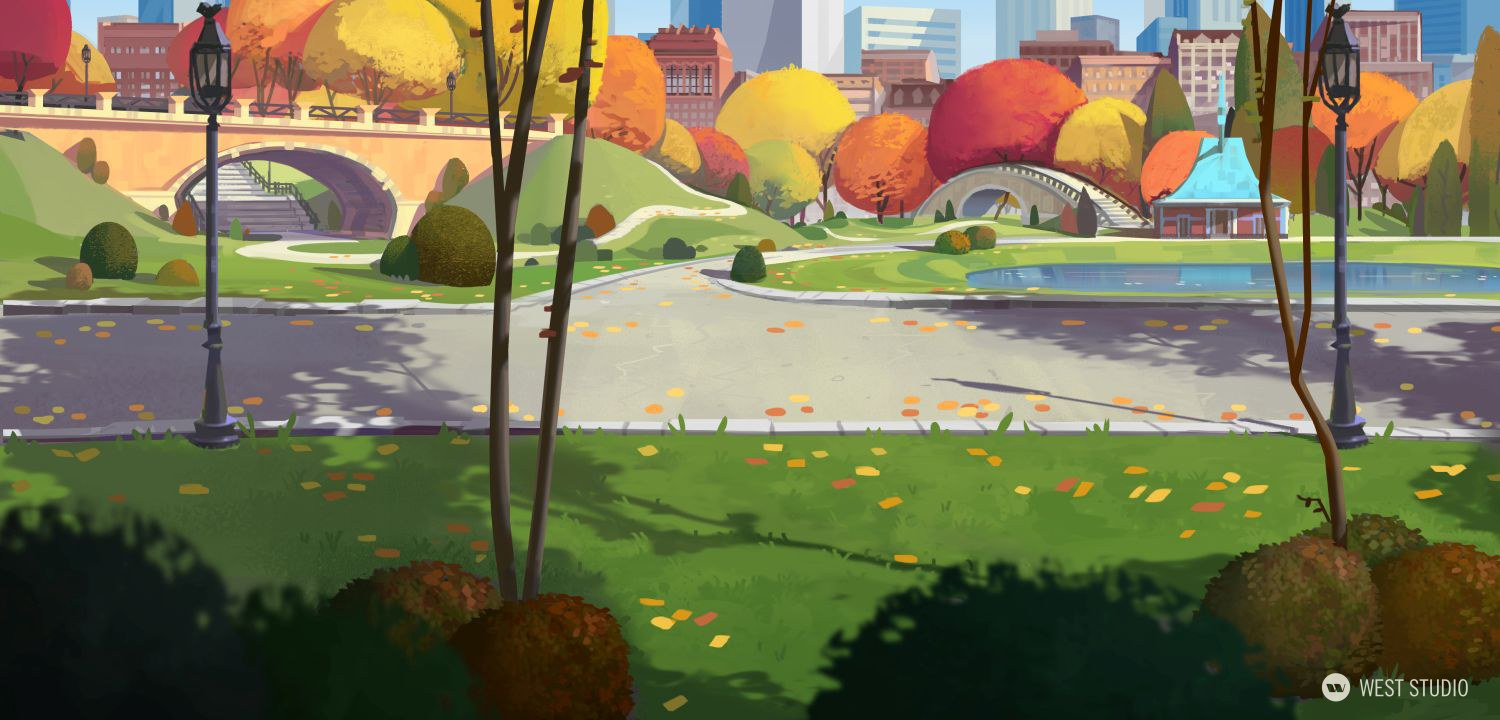 Animation, Background Paintings, Stylized, Illustration, Film