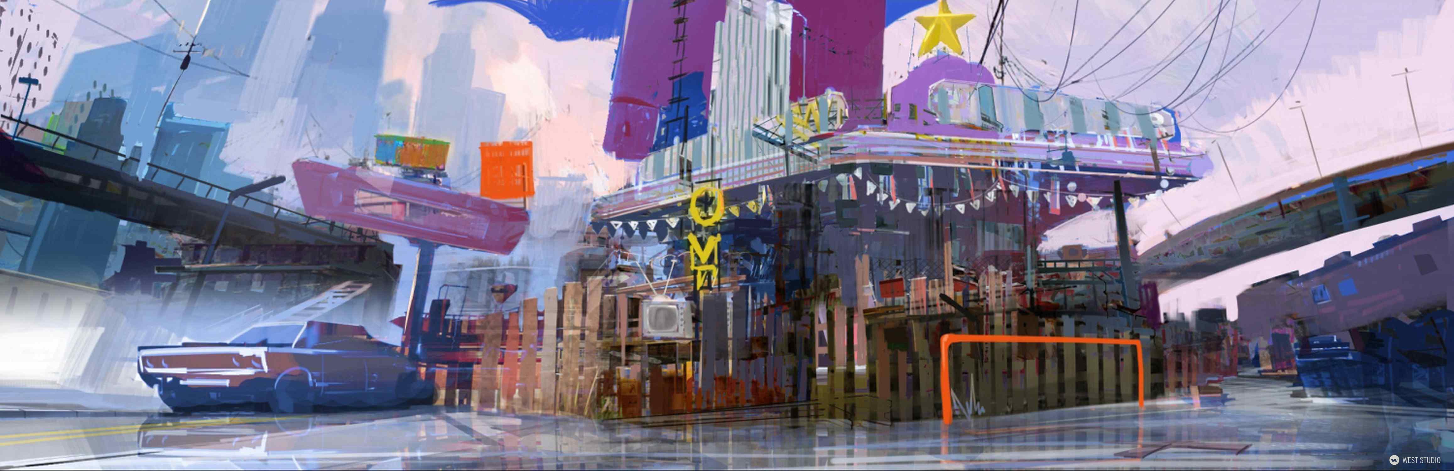 Concept Art, Environment Concepts, Visual Development, World Building, Insomniac Games