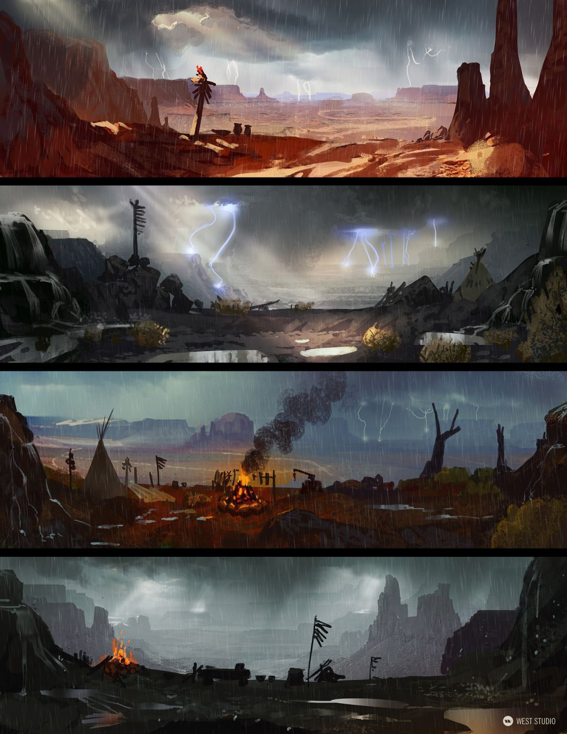 Concept Art, Environment Concepts, Background Paintings