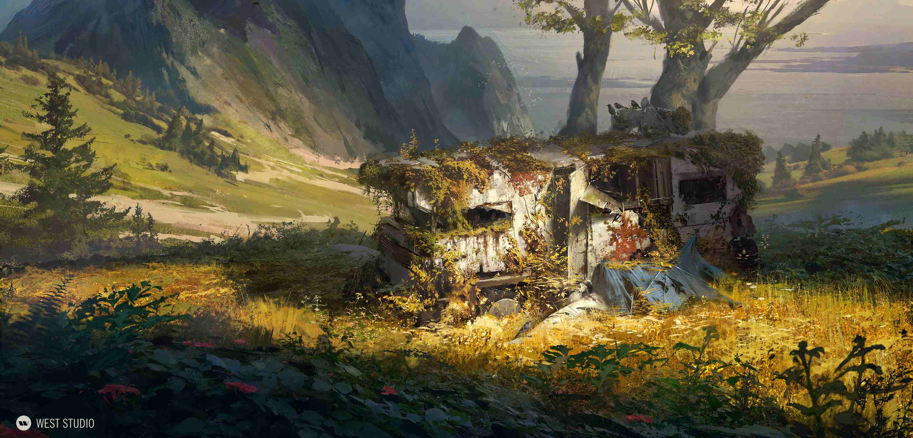 post apocalyptic, concept art, decay, weathering, sci-fi, science fiction, visual development
