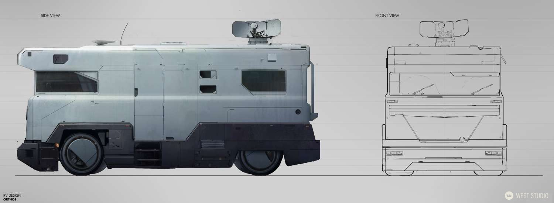 Vehicle Design, Futuristic, Sci-fi, Concept Art, Ortho, Orthographic