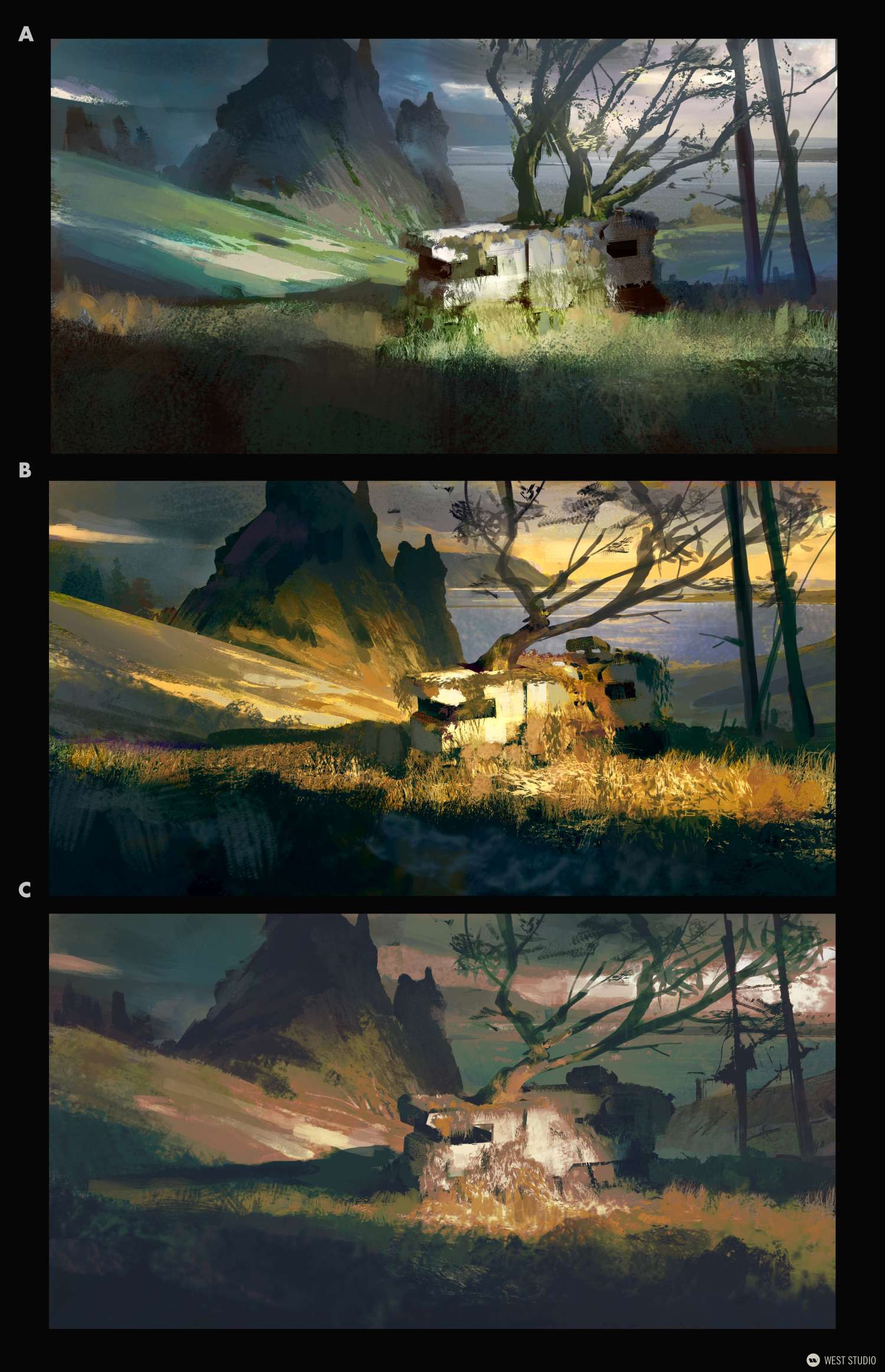 Vehicle Design, Futuristic, Sci-fi, Concept Art, Color Keys, Coor Study