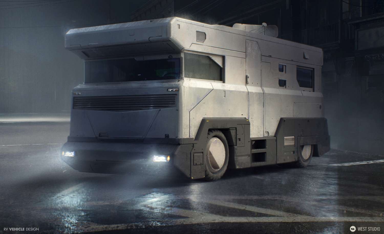 Vehicle Design, Futuristic, Sci-fi, Concept Art
