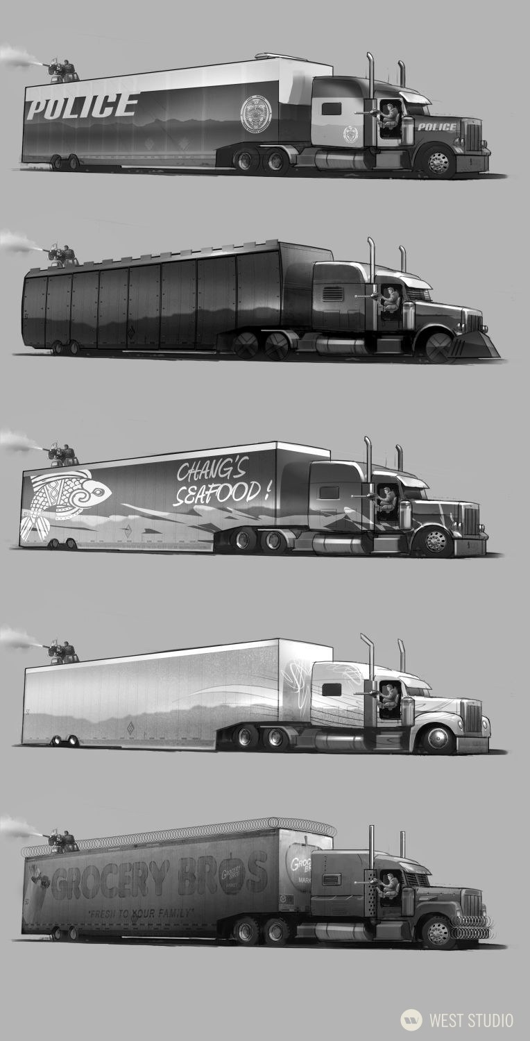 Concept Art, Vehicle Design, Character Concepts, Visual Development, Storyboards