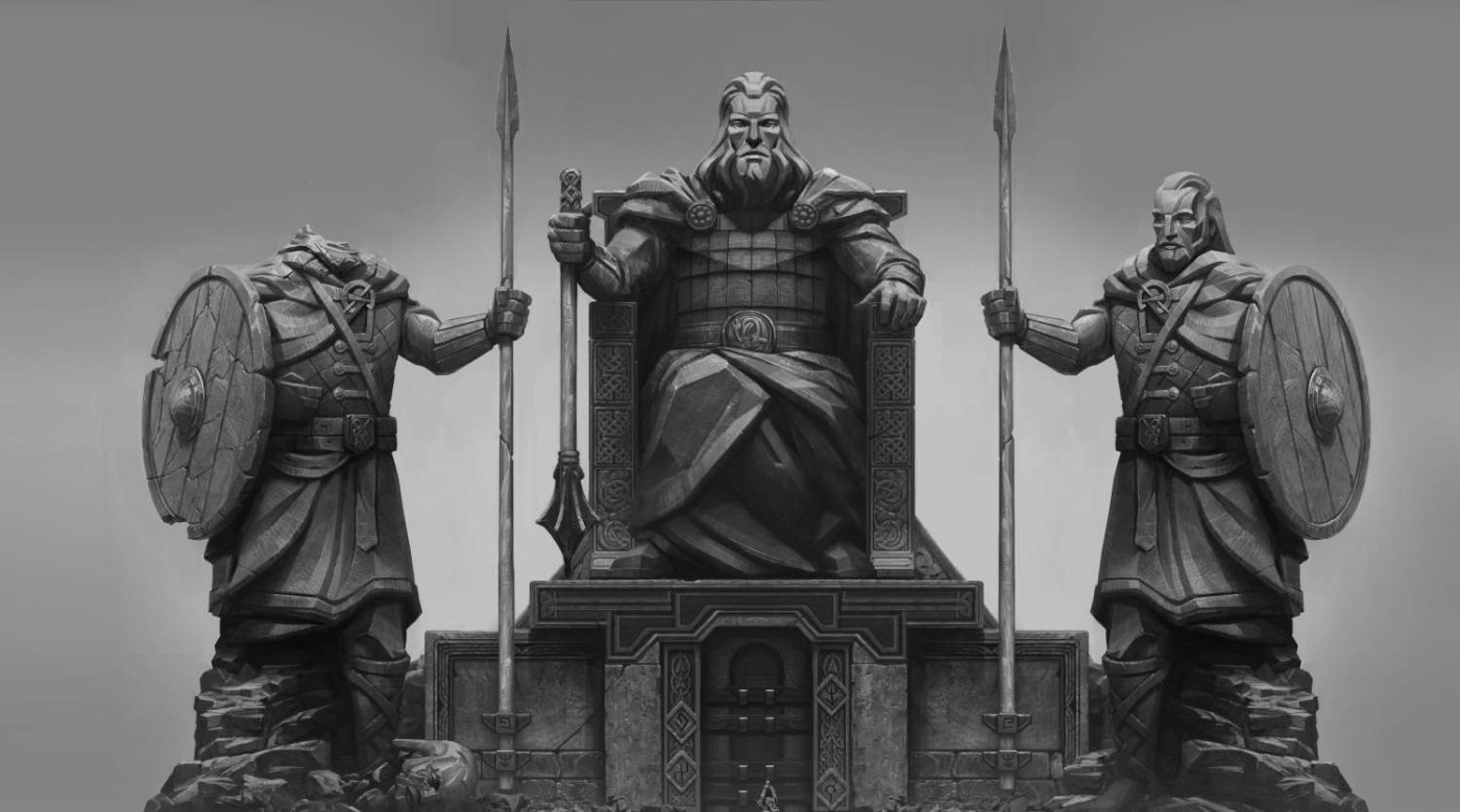 God of War, Fantasy, Concept Art, Concept Design, Statues, Sculpture