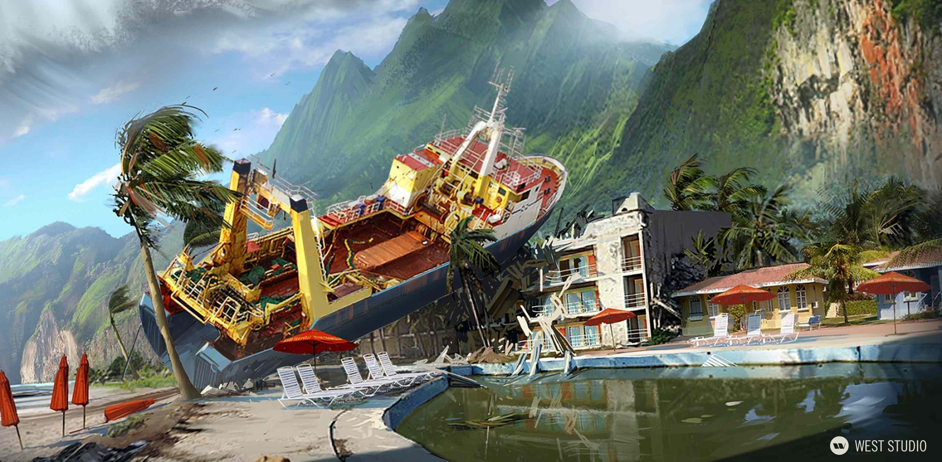 Environment Concepts, Location Design, World Building, Game Development, Ubisoft, Far Cry 3, Concept Art, Visual Development