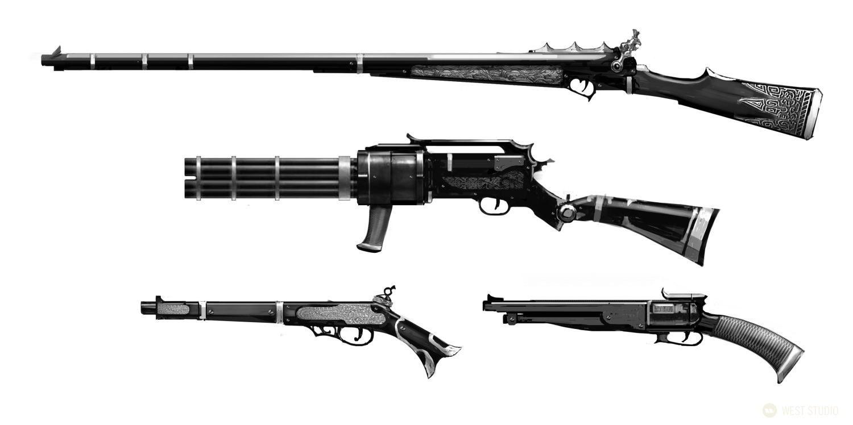 Double Helix Games, Amazon Games, Weapon Concepts, Concept Art, props