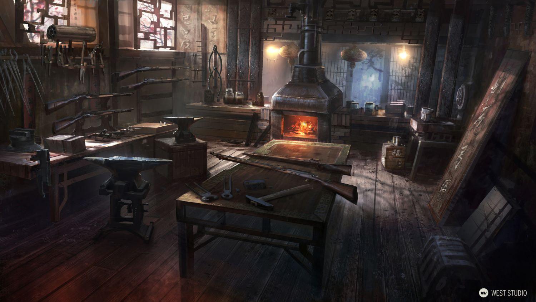 Double Helix Games, Amazon Games, Environment Concepts, Concept Art, Interior