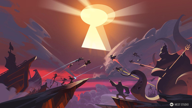 Disney, Sorcerer's Arena, Key Art, Color Keys, Animation