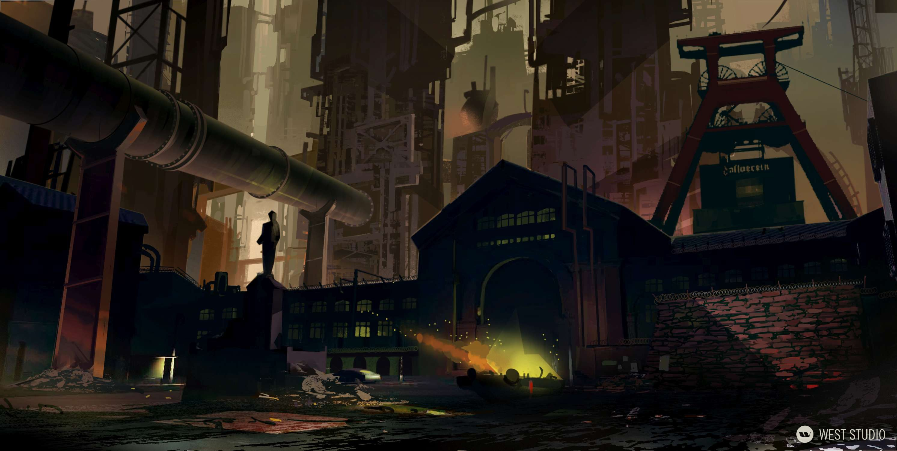 Concept Art, Stylized, Zombie, Capcom, Ninja Gaiden, Yaiba, Environment Concepts