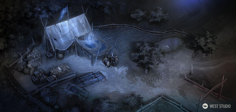 Lineage II, Fantasy, Korean Game Dev, NCSOFT, Concetp Art, Environment Concepts, Aerial view