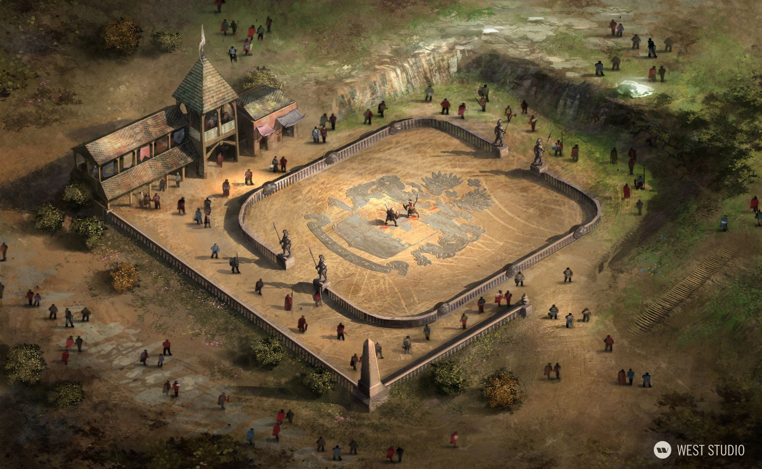 Lineage II, Fantasy, Korean Game Dev, NCSOFT, Concetp Art, Environment Concepts, Aerial view