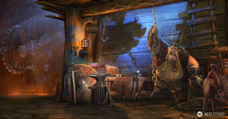 DreamWorks, Theme Park, Concept Art, Key Art, Pre-Vis, Shrek