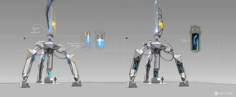 concept art, visual development, props, industrial design, environment concept, game design, game development, science fiction, sci-fi