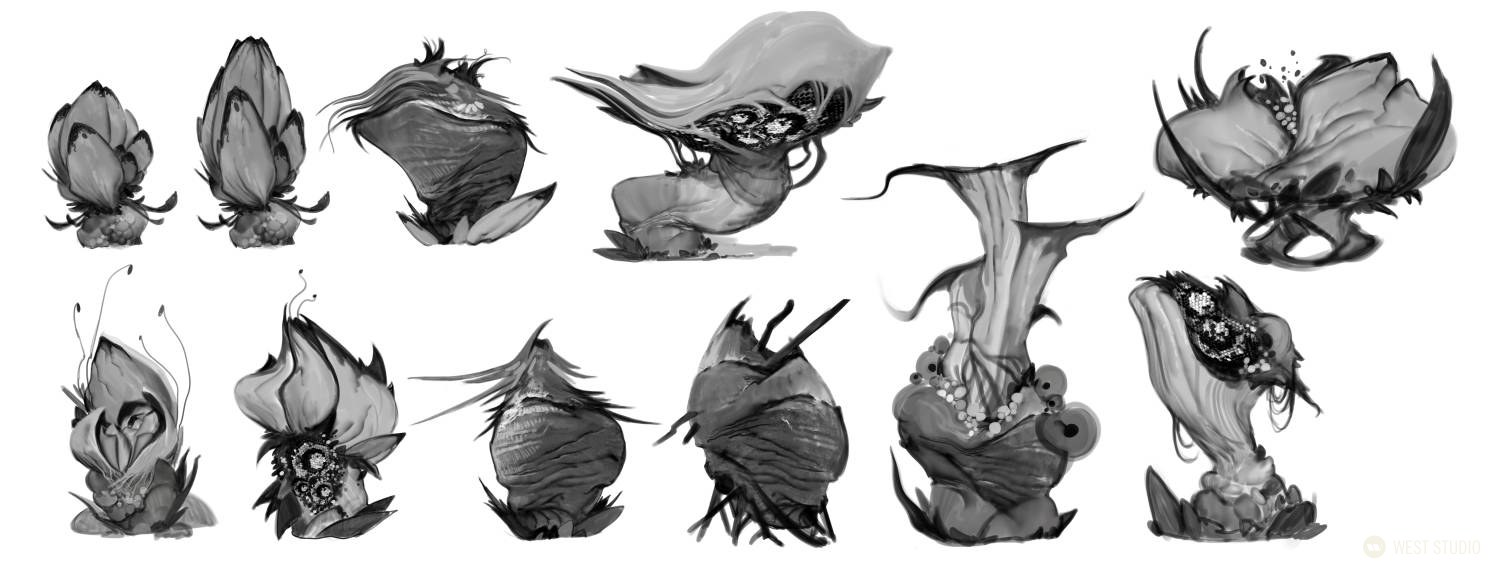 concept art, visual development, creatures, game design, game development, science fiction, sci-fi, monsters