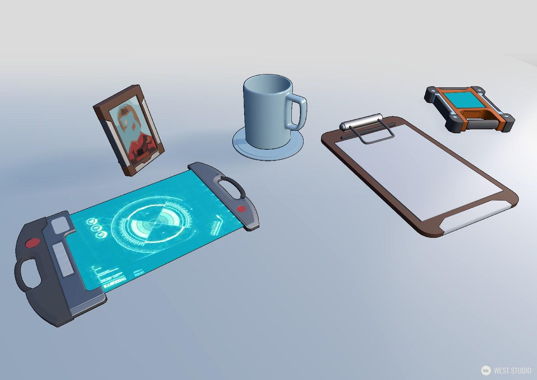 concept art, visual development, 3D, props, game development, science fiction, sci-fi, realistic