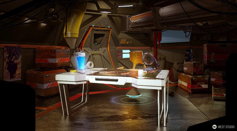 concept art, environment concept art, visual development, 3D, props, game development, science fiction, sci-fi, realistic
