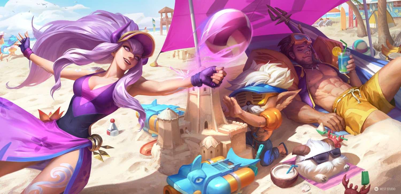 League of Legends, Riot Games, LOL, Splash, Illustration, West Studio, Mingchen Shen, Skins, Rendering,
