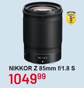 Nikkor Z 85mm f/1.8S