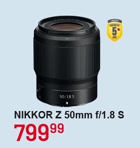 Nikkor Z 50mm f/1.8S