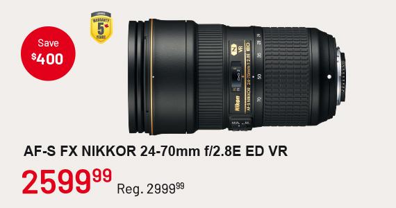 AF-S FX Nikkor 24-70mm f/2.8 ED VR