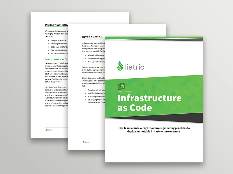 A thumbnail image of the Infrastructure as Code white paper.