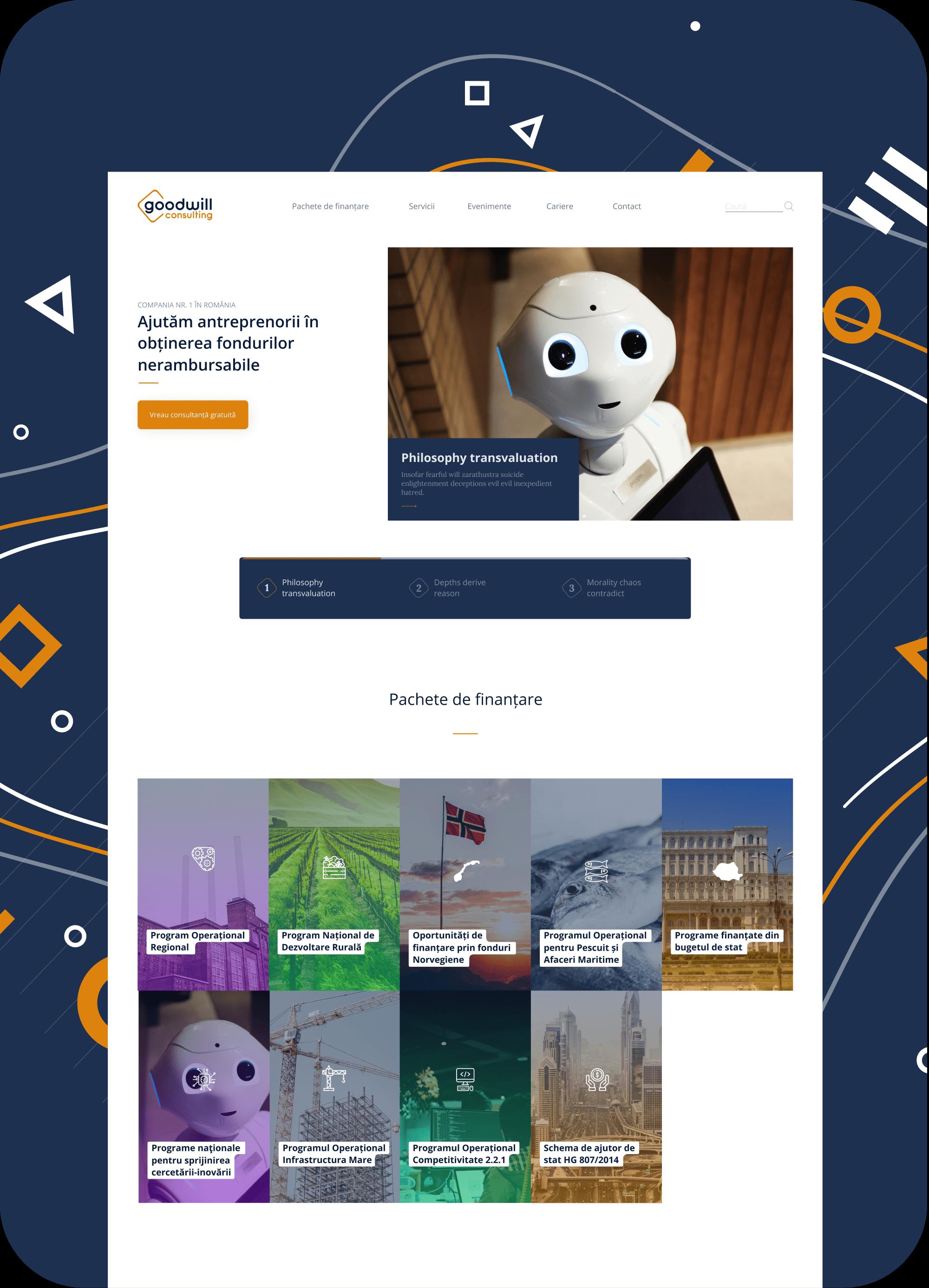 Goodwill consulting EU funds Webflow development Alexyo Web design