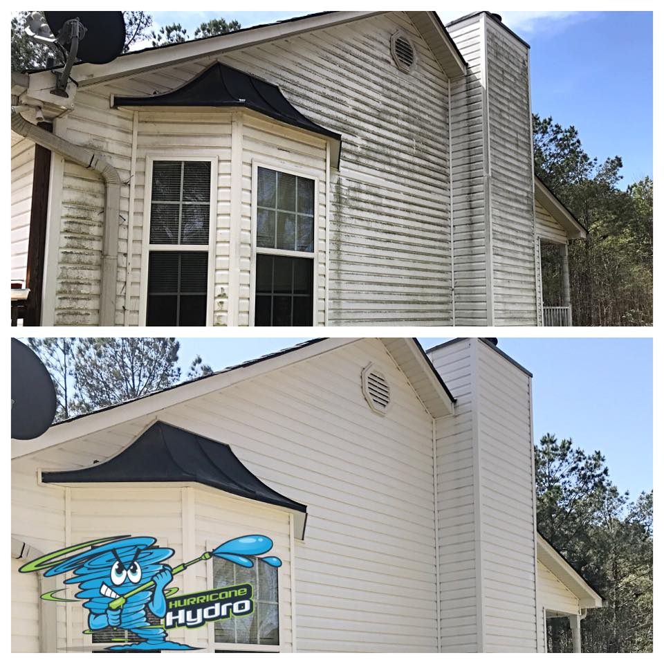 residential pressure washing before and after