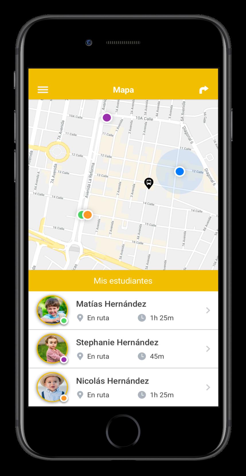 Mi Bus App - Mapa