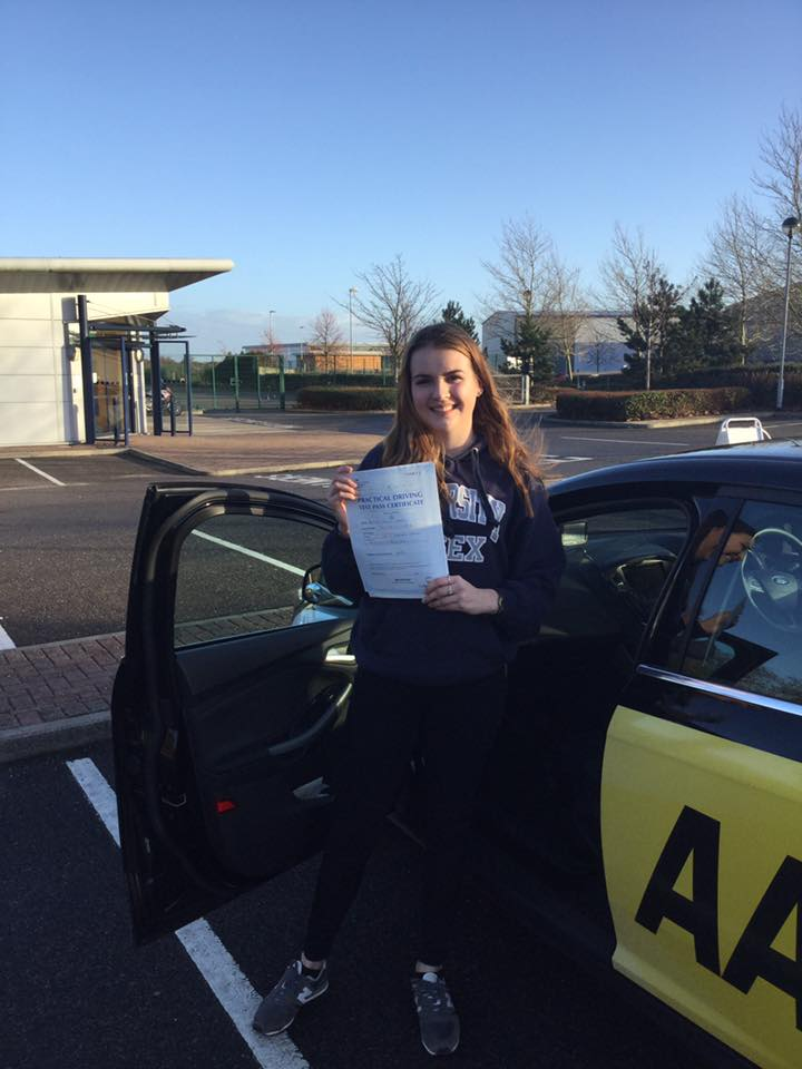 Dec 2018 - Olivia from Whitstable - Thank you so much!! Best driving instructor ever!!