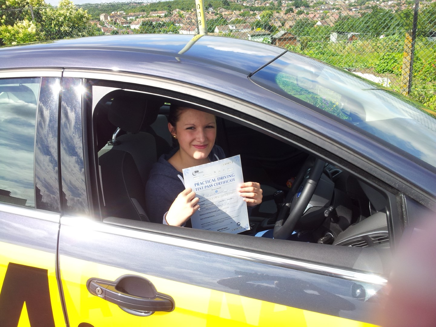 Thanks very much for teaching me how to drive ! Thanks for keeping me calm before my test! U stopped me from crying!! Thanks for everything, will look forward to my pass plus, THANKYOU xxxxxx