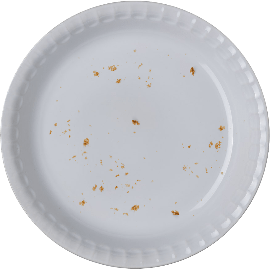Pie Chart empty dish