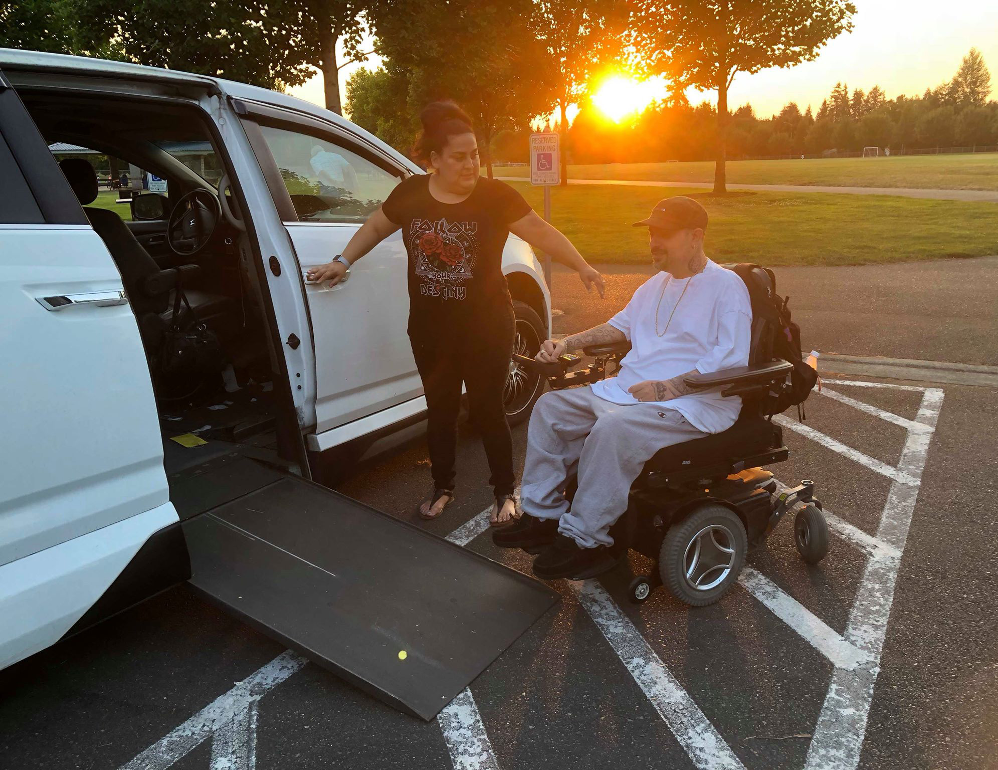 wheelchair ramp on minivan