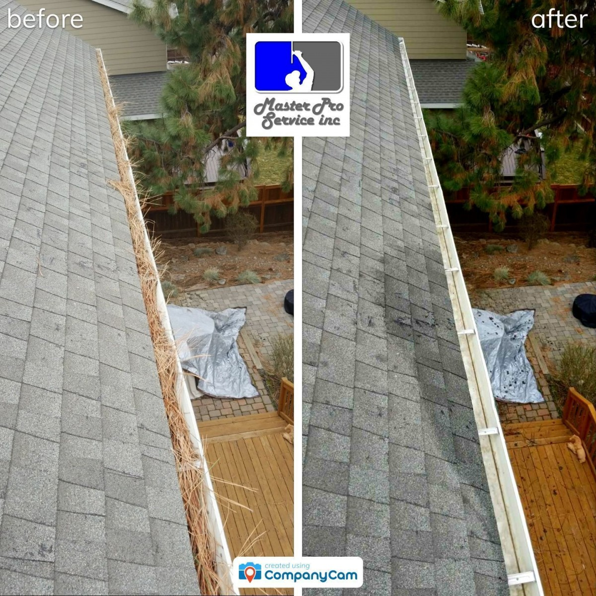 Gutter cleaning by MasterPro Service