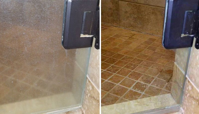 Shower Door Restoration