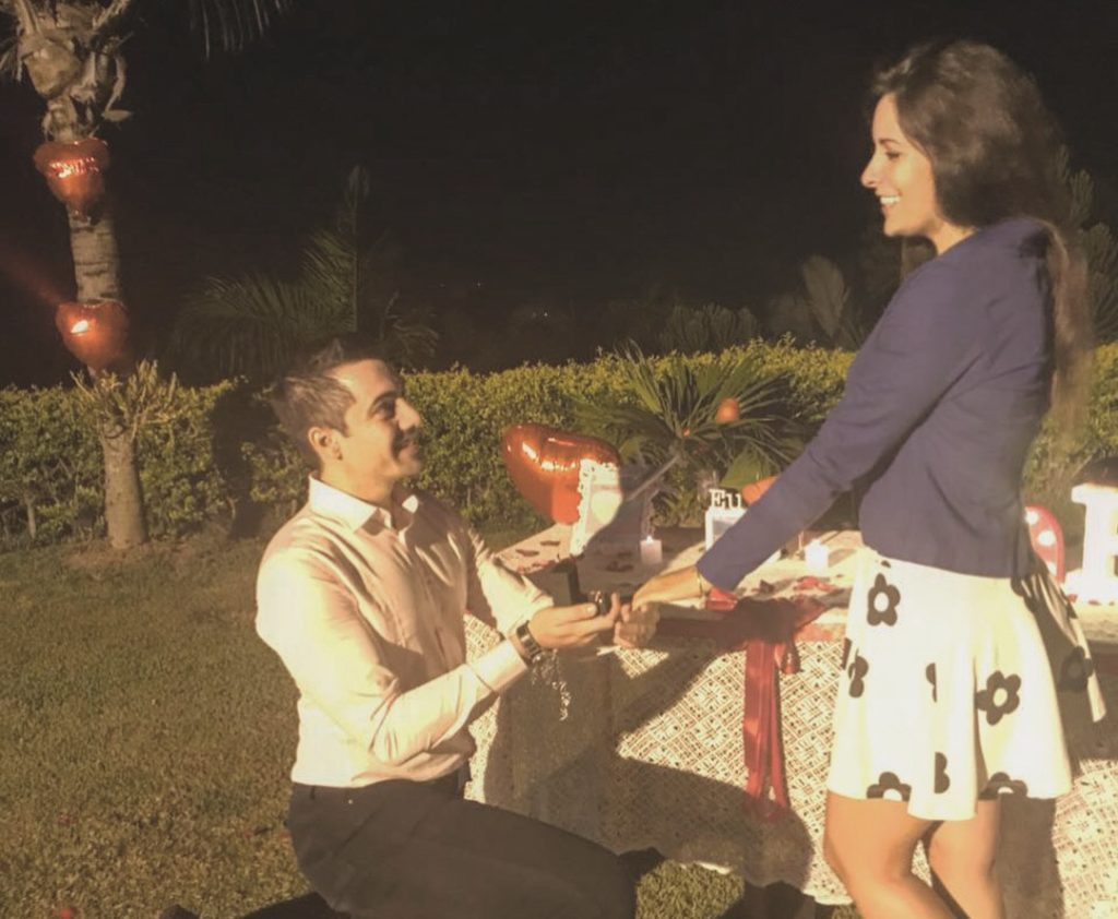 Pedido de casamento simples e romântico