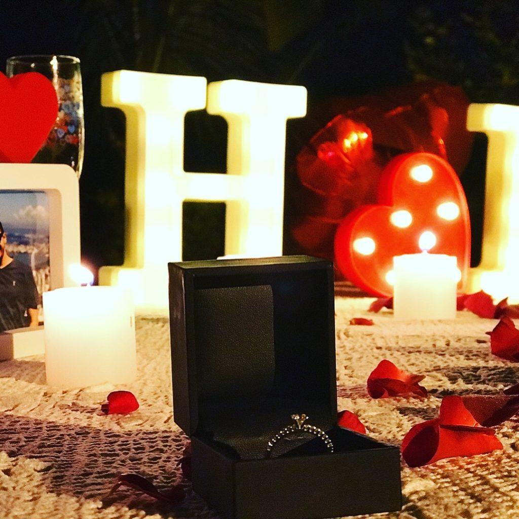 decoração pedido de casamento simples e romântico