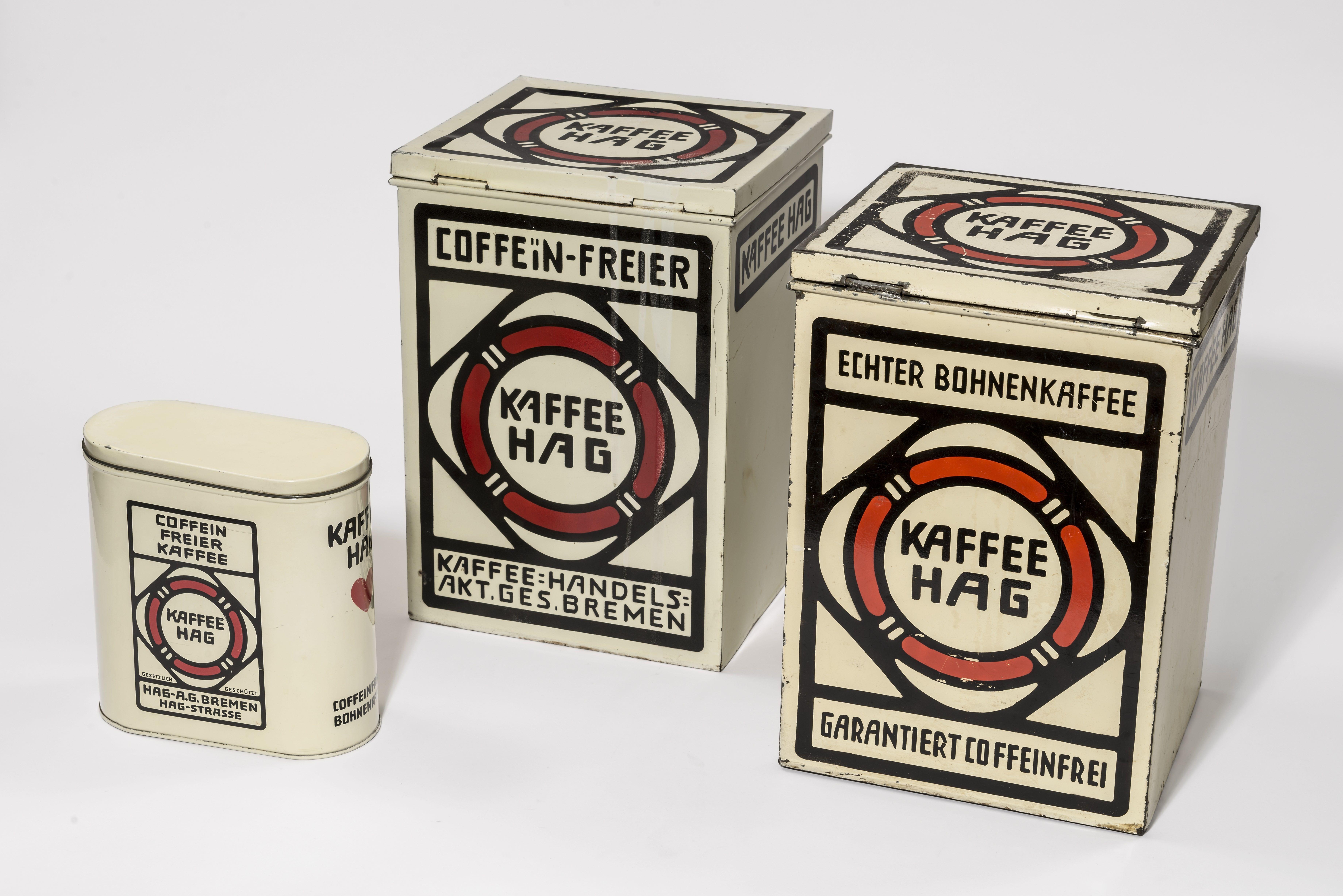 Vorratsdosen Kaffee HAG, um 1910, Bröhan-Museum, Berlin