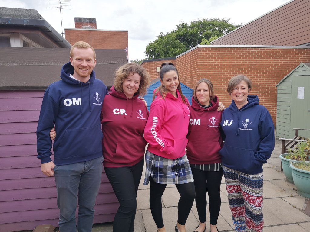 photo of children wearing their 2019 leavers hoodies