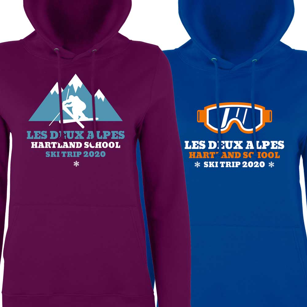Customised ski hoodies