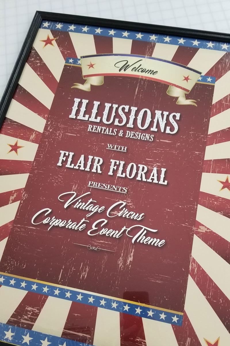 Illusions Rentals Poster Design