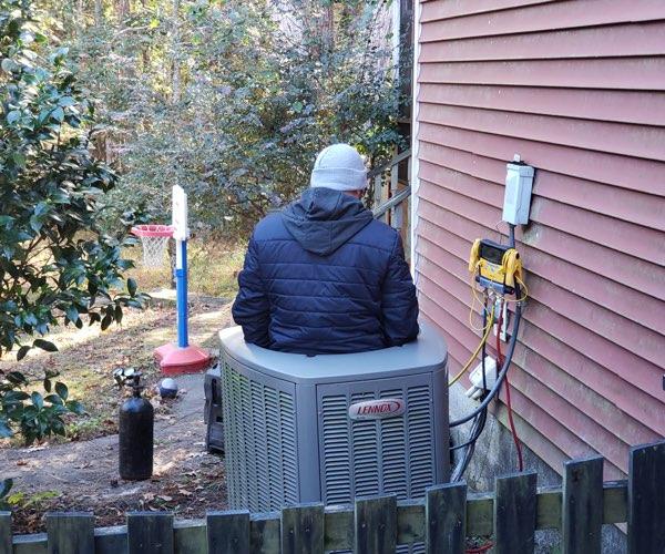 repairing a lennox heat pump