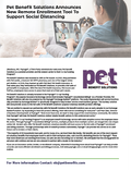 Pet Benefit Solutions Press Release