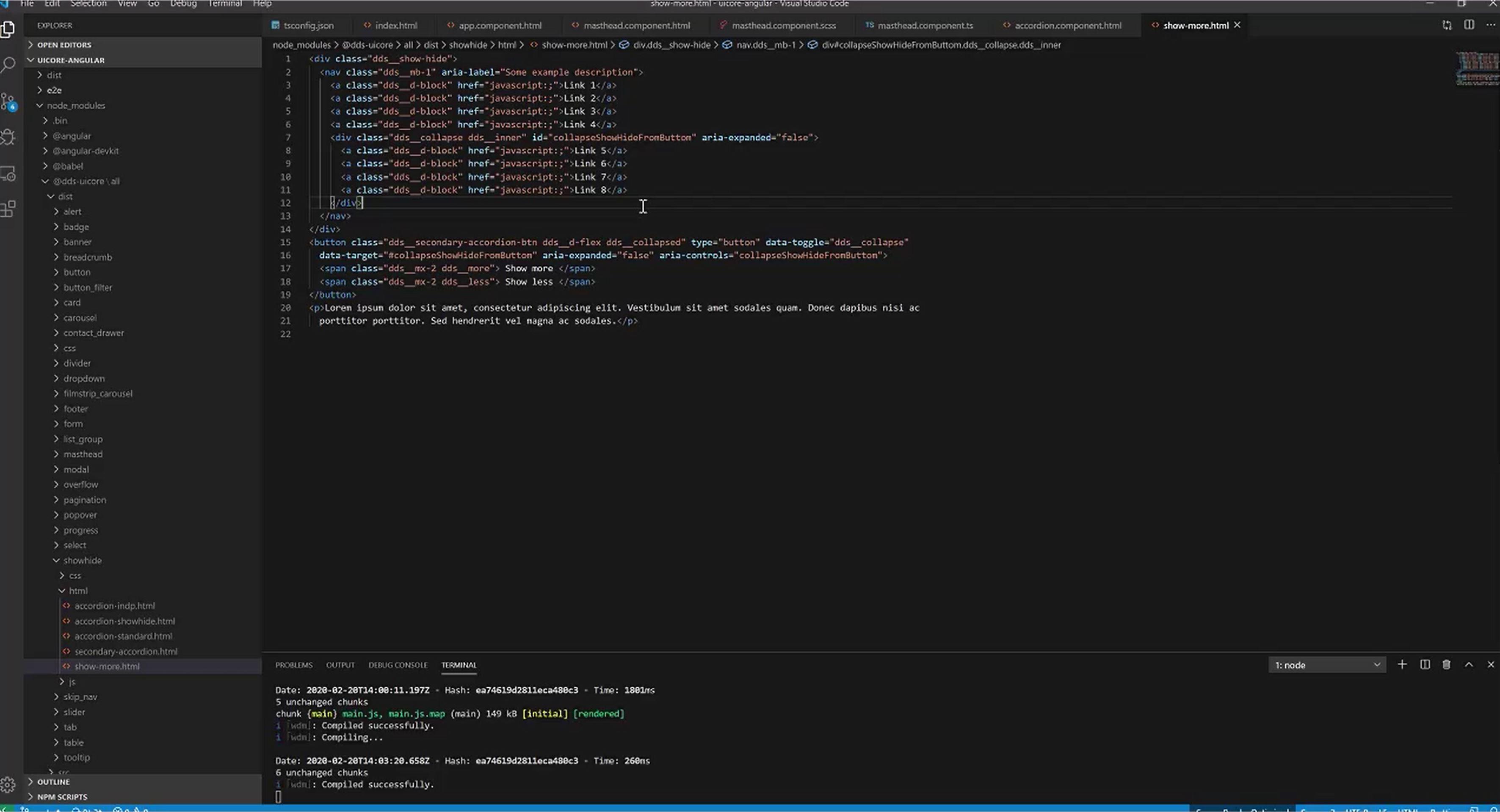 Dell Design System Developer Training Screenshot