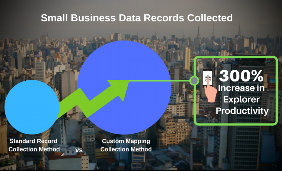 Custom Mapping Technology: Small Business Data Records Collected
