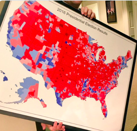 Choropleth Map: 2016 Election Results
