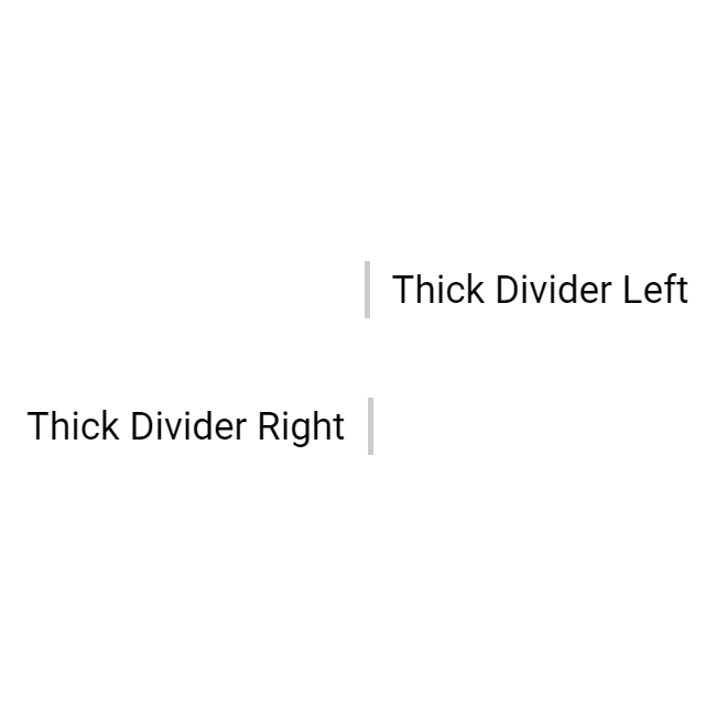 Vertical Dividers: Thick