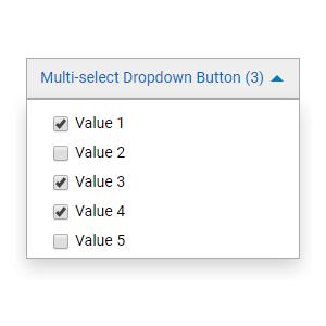 Multi-select Dropdown Button