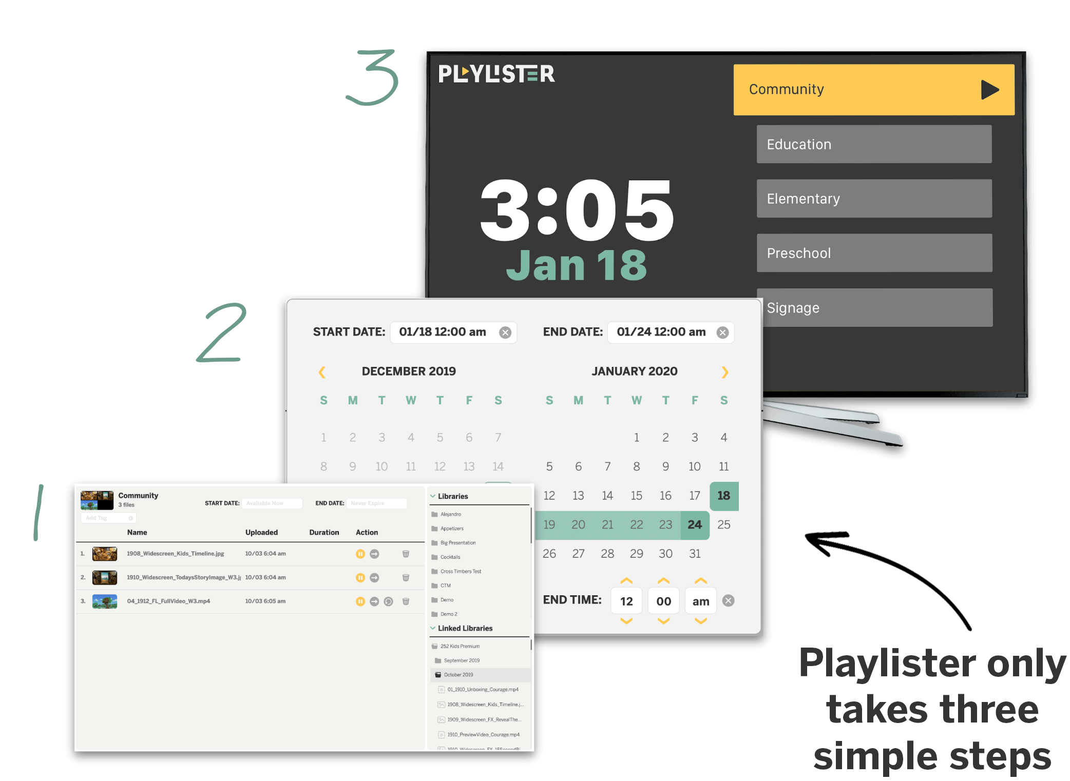 Three setup steps for Playlister